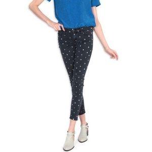Mother Looker Ankle Zip Jeans Fleur De Love Lis 28